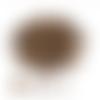 Lot de 50 perles en bois - brun rayé - ref p-1175