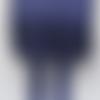 Biais replié - satin  - uni - bleu marine - 20 mm