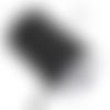 Ruban elastique plat - noir - 6 mm