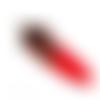 1 pendentif plume naturelle - rouge - 7 cm