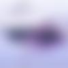 1 pendentif estampe - demi lune - filigrane - laser cut - noir
