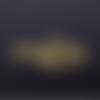 1 connecteur pendentif - note de musique - dorée - acier inoxydable