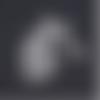 1 connecteur pendentif - licorne - argentée - acier inoxydable