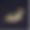1 breloque pendentif - lézard -  dorée - acier inoxydable