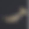 1 connecteur pendentif - oiseaux sur la branche - dorée - acier inoxydable