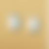 1 breloque licorne - bleu - email  -  métal doré