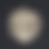 1 breloque pendentif - feuille de palmier - dorée - acier inoxydable