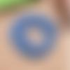 1 chapelet perles heishi - rondelles en pâte polymère - 6 mm - bleu