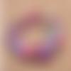 1 chapelet perles heishi - rondelles en pâte polymère - 6 mm - multicolore