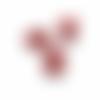 1 stop cordon boule - 15 mm -  rouge