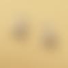 1 breloque faon - noel - émaillé - couleur métal doré