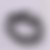 1 chapelet perles heishi - rondelles en pâte polymère - 6 mm - blanc - noir - gris