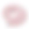 1 chapelet perles heishi - rondelles en pâte polymère - 6 mm - rose pâle
