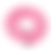 1 chapelet perles heishi - rondelles en pâte polymère - 6 mm - rose
