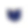 1 breloque livre harry potter - émaillé bleu - couleur métal doré