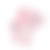 1 anneau de dentition - éléphant rose en silicone