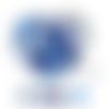 Lot de 10 perles en silicones - 15 mm - tons bleu - blanc - bleu roi