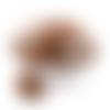 1 perle en silicone - renard - marron