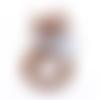 1 anneau de dentition - renard en silicone - marron