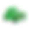 1 perle en silicone - voiture - vert