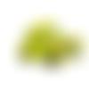 1 perle en silicone - voiture - vert anis