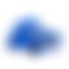1 perle en silicone - voiture - bleu roi