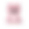 1 anneau de dentition - ourson en silicone - rose