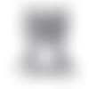 1 anneau de dentition - ourson en silicone - gris