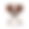 1 anneau de dentition - chien en silicone - marron