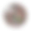 1 cabochon en verre - 25 mm -  angelot