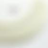 1 m de cordon cuir plat - blanc - 4 mm