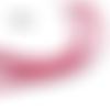 1 m de cordon cuir plat - rouge - 4 mm