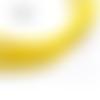 1 m de cordon cuir plat - jaune - 4 mm
