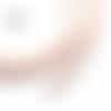 1 m de cordon cuir plat - rose - 4 mm
