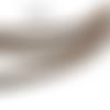 1 m de cordon cuir plat - marron - 4 mm