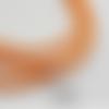 1 m de cordon cuir plat - orange - 4 mm