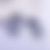 1 pendentif breloque - attrape rêve - gris foncé - filigrane - laser cut