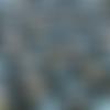 1 coupon de tissu eléphants - fond bleu marine - 50 x 80 cm