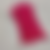 2 bandes elastiques - cordon avec boucle réglable pour masque - fuchsia