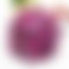 Galon pompon - tons vieux rose - prune - vendu par 0.50 cm