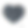 Lot de 5 perles en silicones - 12 mm - gris foncé