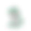 1 perle en silicone - licorne - vert