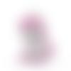 1 perle en silicone - licorne - parme