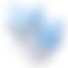 1 clip / pince pour attache tétine ou doudou en silicone - renard - bleu