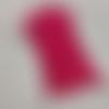 10 bandes elastiques - cordon avec boucle réglable pour masque - fuchsia