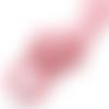1 m de cordon cuir - rose - 2 mm