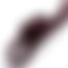 1 m de cordon cuir - bordeaux - 2 mm