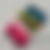 24 bandes elastiques - cordon avec boucle réglable pour masque - multicolore