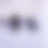 1 pendentif breloque - perroquet - noir - filigrane - laser cut