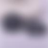 1 pendentif breloque - paon - noir - filigrane - laser cut